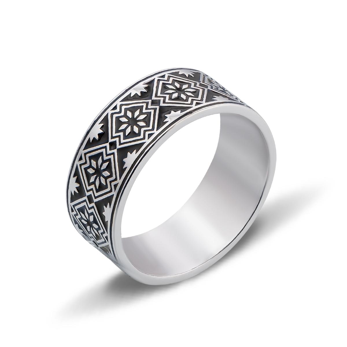 Серебряное кольцо «Звезда Алатырь»