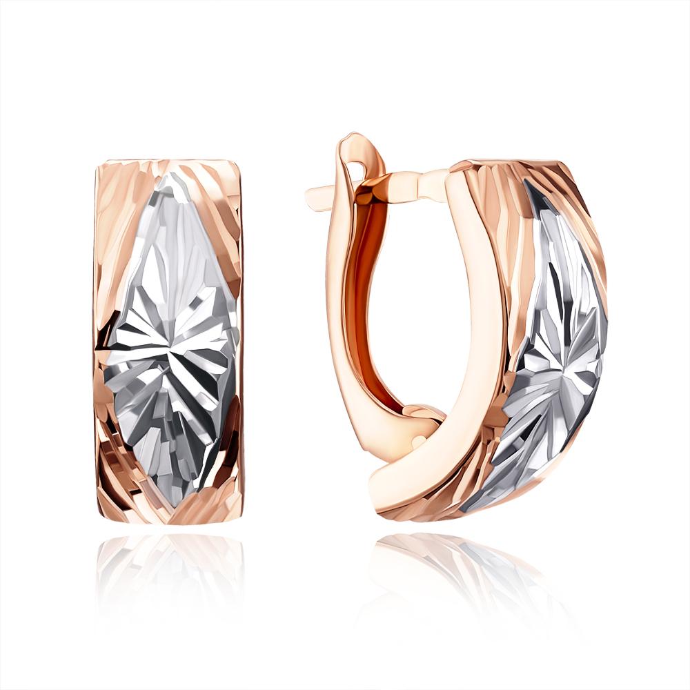 Золоті сережки з алмазною гранню. Артикул 02841-8/01/3 (02841/з)
