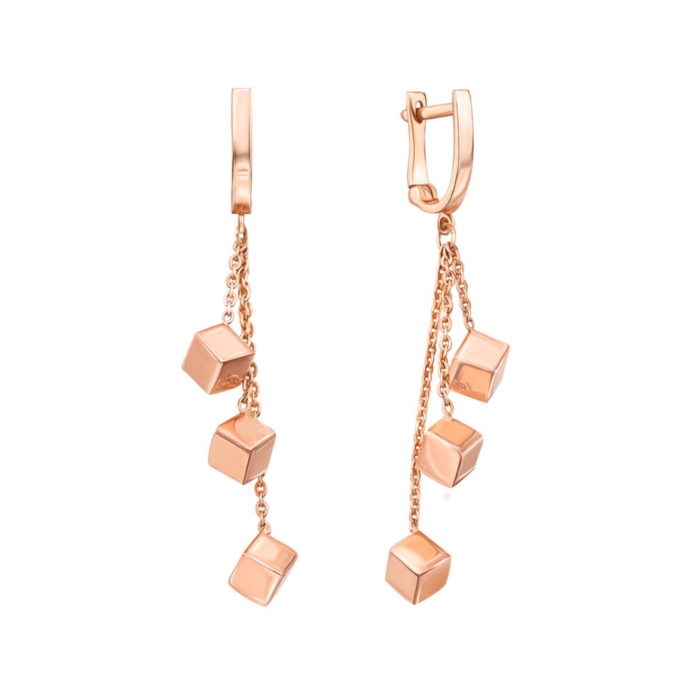 Золоті сережки-підвіски. Артикул 02955/01/0 (02955)