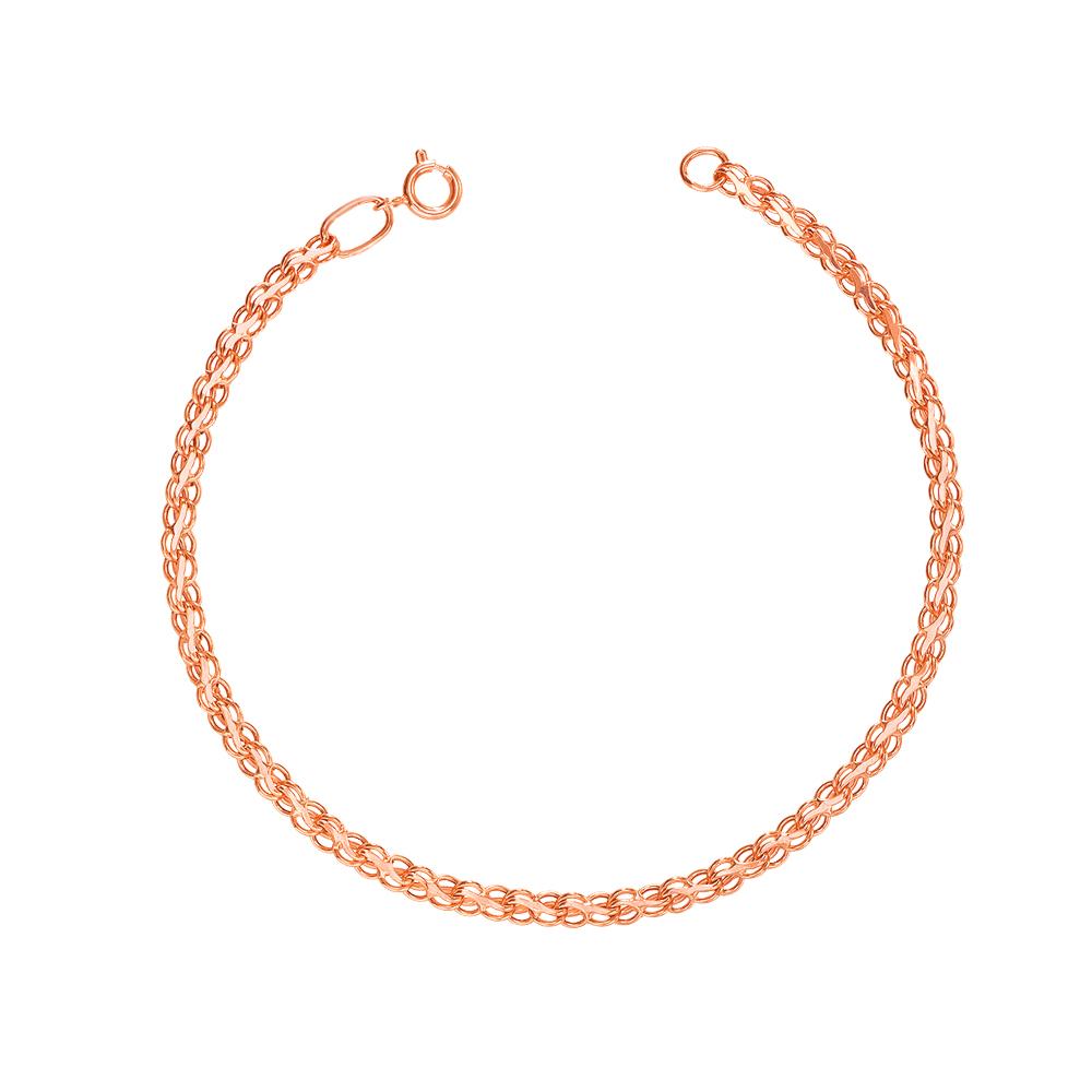 Золотий браслет з алмазною гранню. Артикул 07036