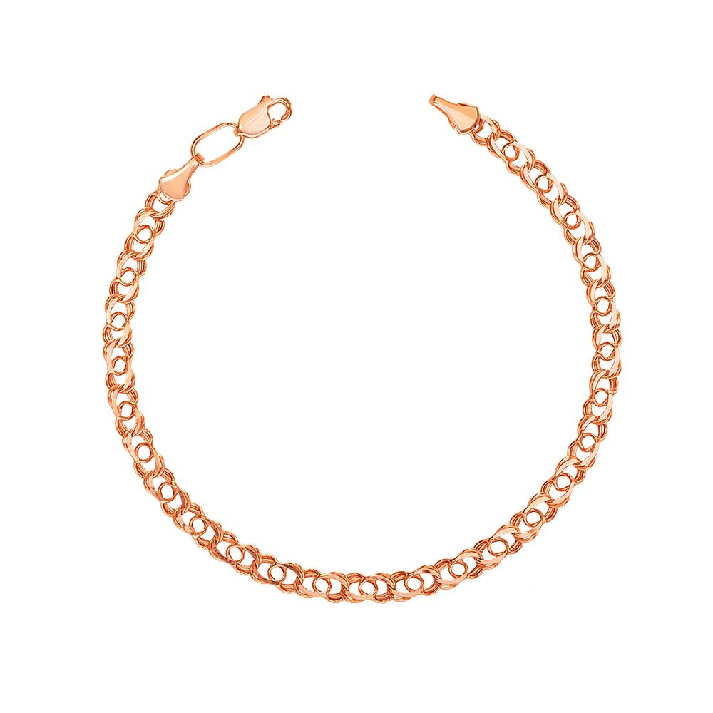 Золотий браслет з алмазною гранню. Артикул 07084/5