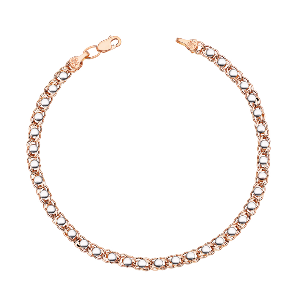 Золотой браслет без вставки. Артикул 07091-10-4/01 (07091/10б)