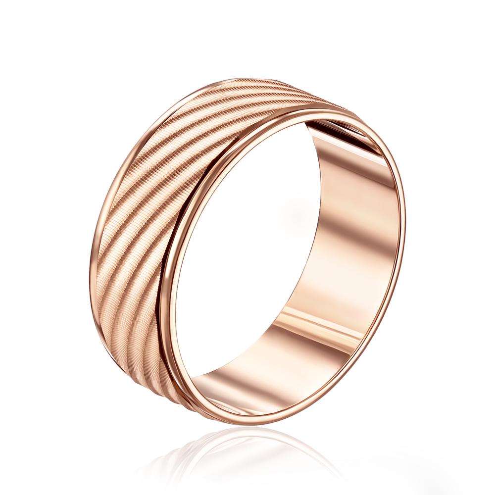 Обручальное кольцо с алмазной гранью. Артикул 10101/10