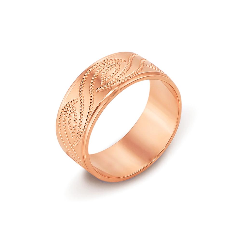 Обручальное кольцо с алмазной гранью. Артикул 10101/18