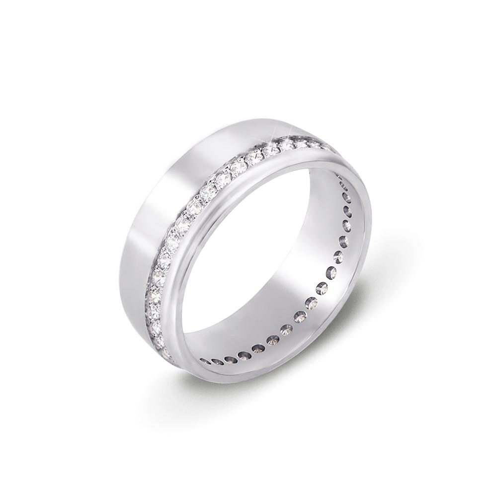 Обручальное кольцо с фианитами. Артикул 10133б