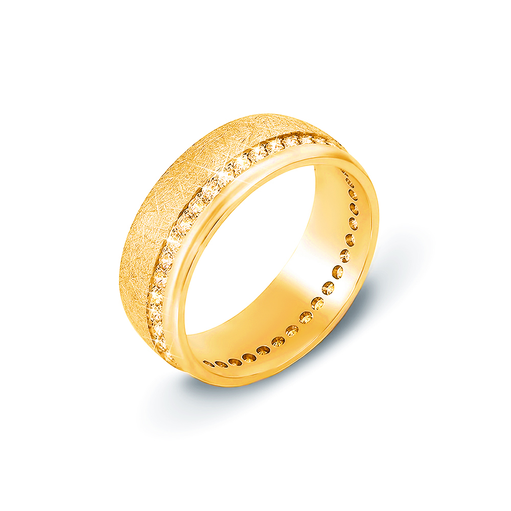 Обручальное кольцо с фианитами. Артикул 10134л