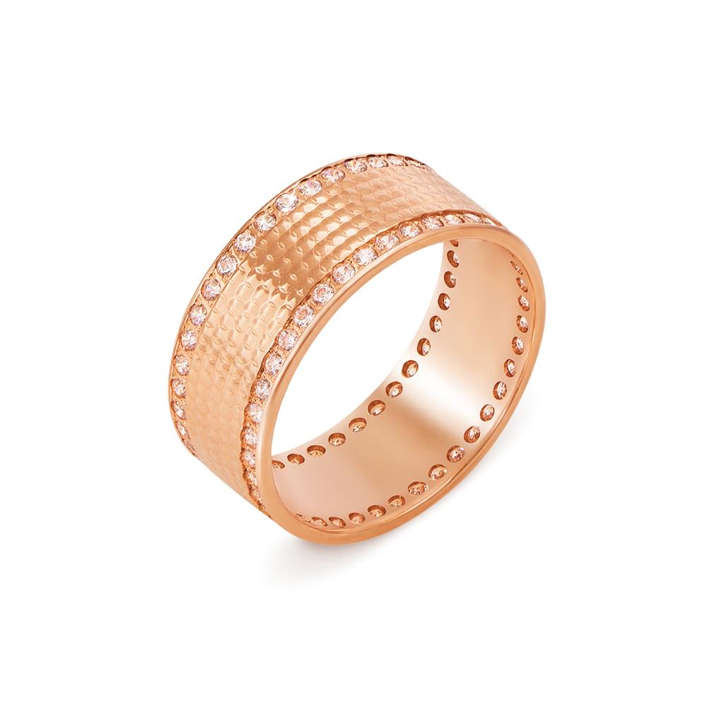 Обручальное кольцо с фианитами. Артикул 10139