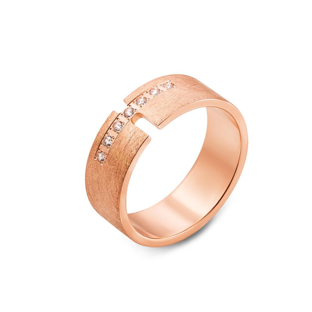 Обручальное кольцо с фианитами. Артикул 10146/1