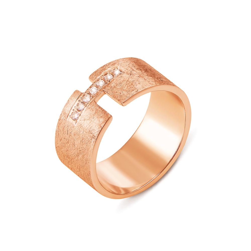 Обручальное кольцо с фианитами. Артикул 10146