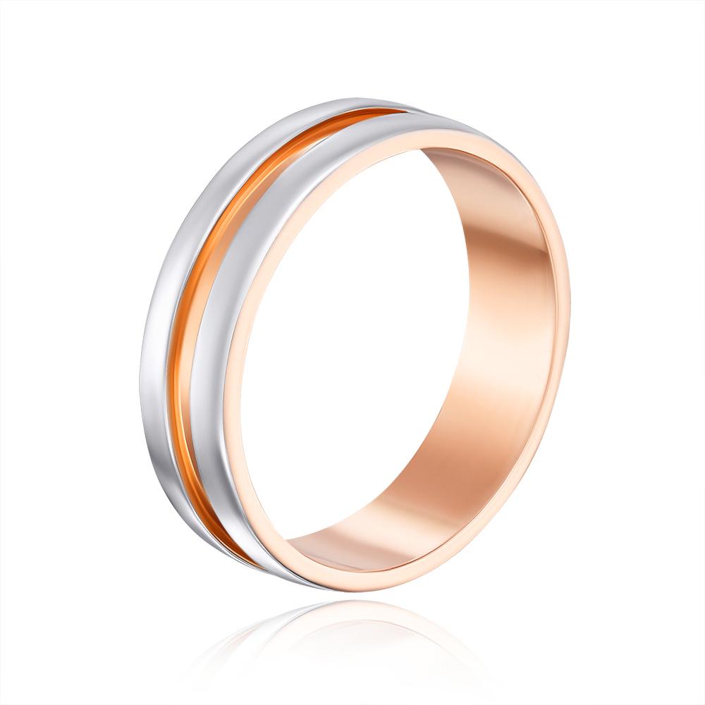 Обручальное кольцо комбинированное. Артикул 10147/2