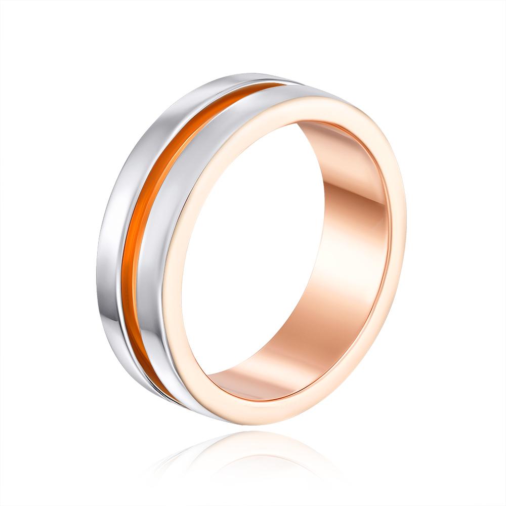 Обручальное кольцо комбинированное. Артикул 10147