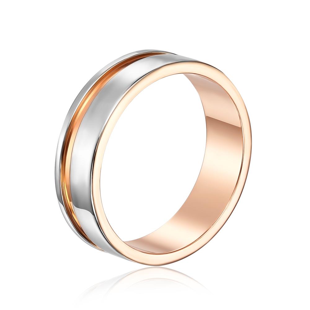 Обручальное кольцо комбинированное. Артикул 10162