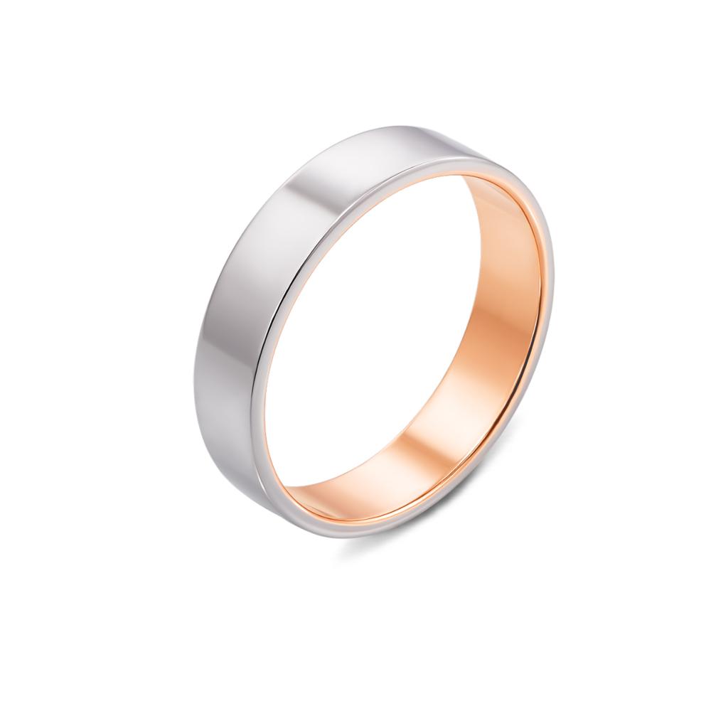 Обручальное кольцо комбинированное. Артикул 10163/1
