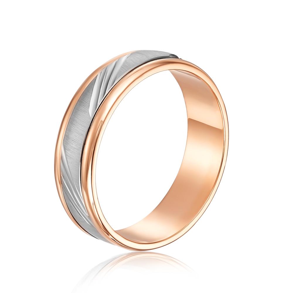 Обручальное кольцо комбинированное. Модель «Антистресс». Артикул 1028/1