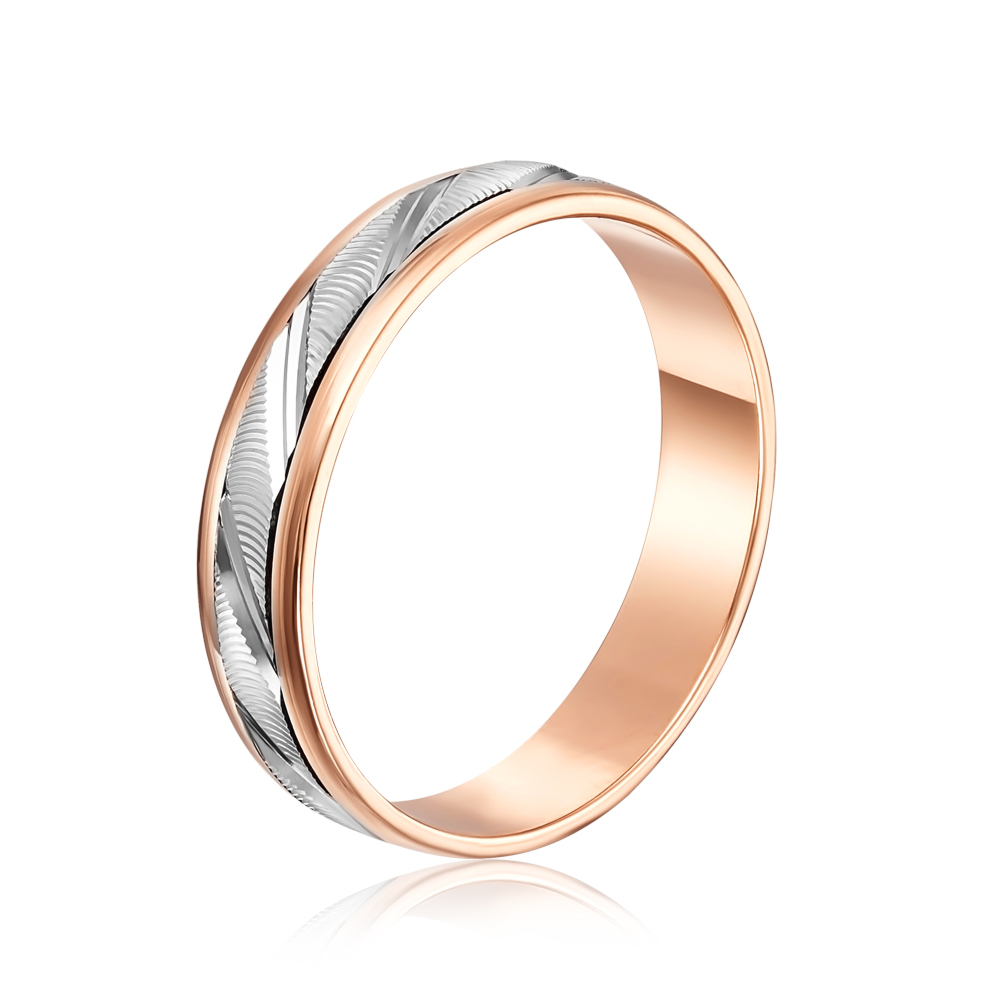 Обручальное кольцо «Антистресс» с алмазной гранью. Артикул 1036/1