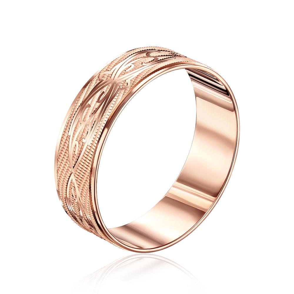 Обручальное кольцо с алмазной гранью. Артикул 1070