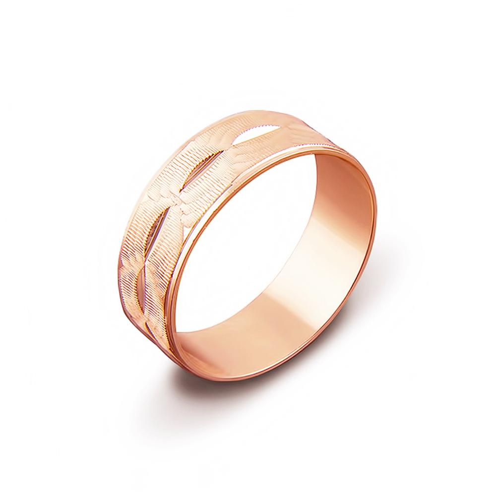 Обручальное кольцо с алмазной гранью. Артикул 1070/10