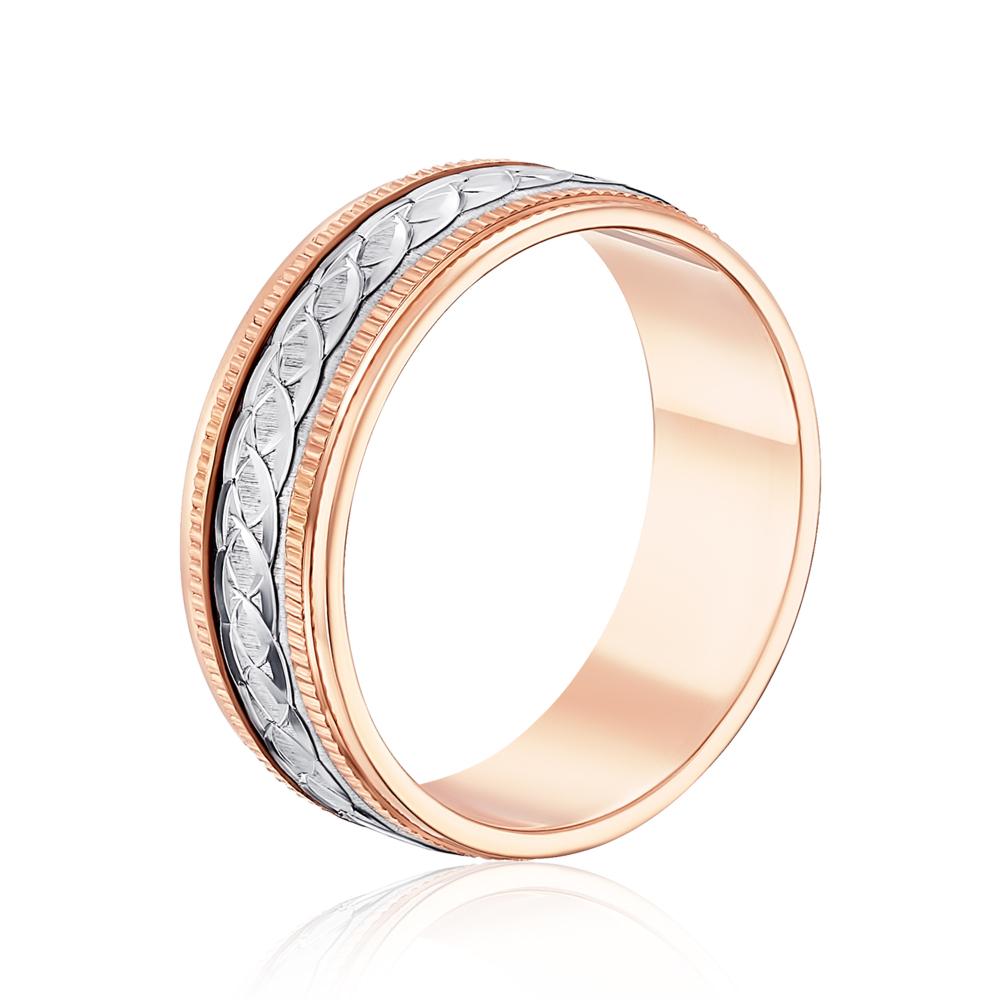 Обручальное кольцо комбинированное. Артикул 1071
