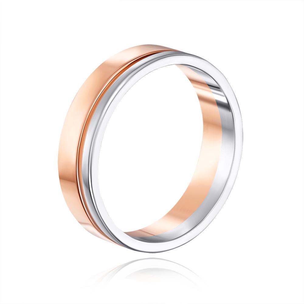 Обручальное кольцо комбинированное. Артикул 1077/1