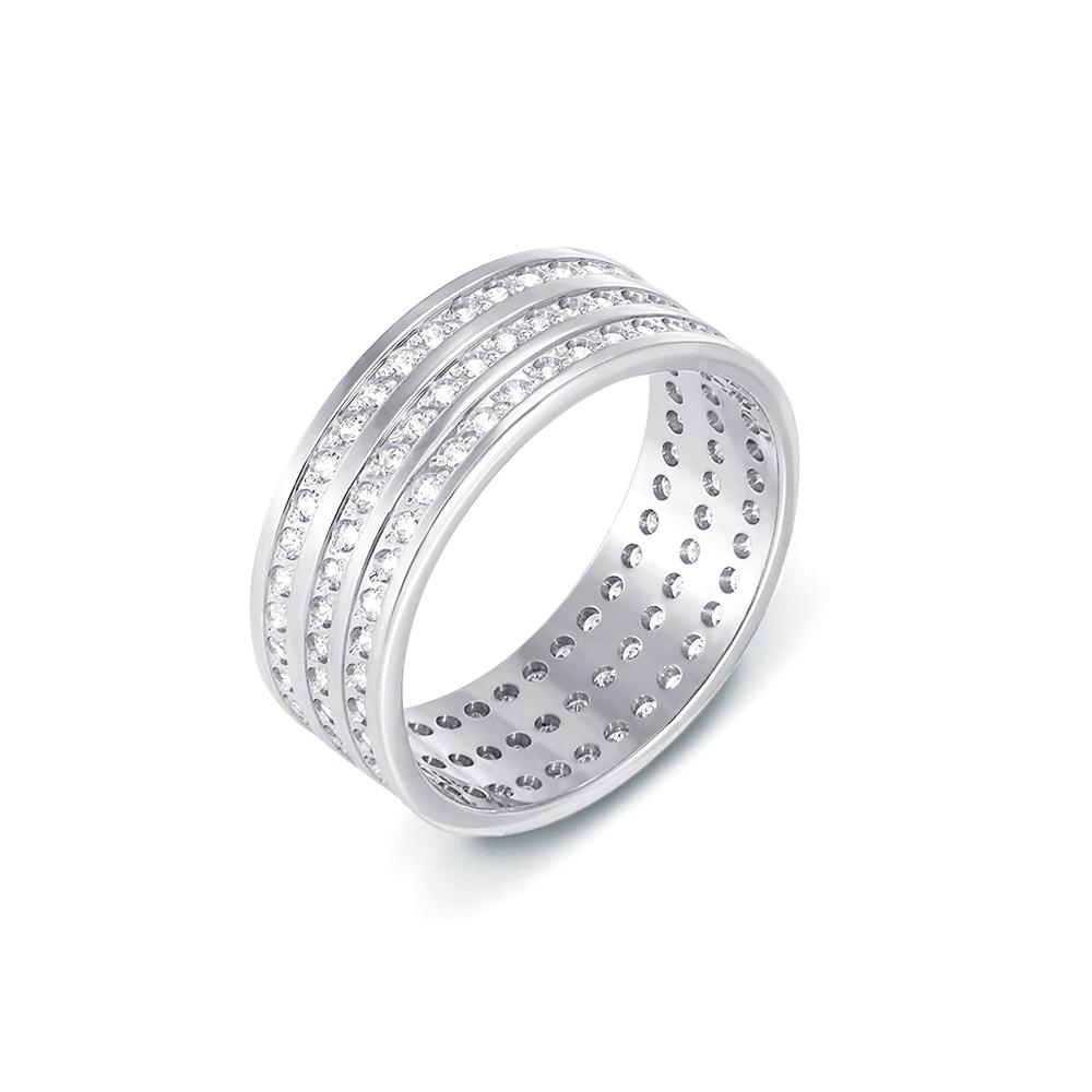 Обручальное кольцо с фианитами. Артикул 1081б
