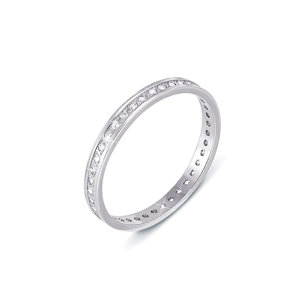 Обручальное кольцо с фианитами. Артикул 1082б