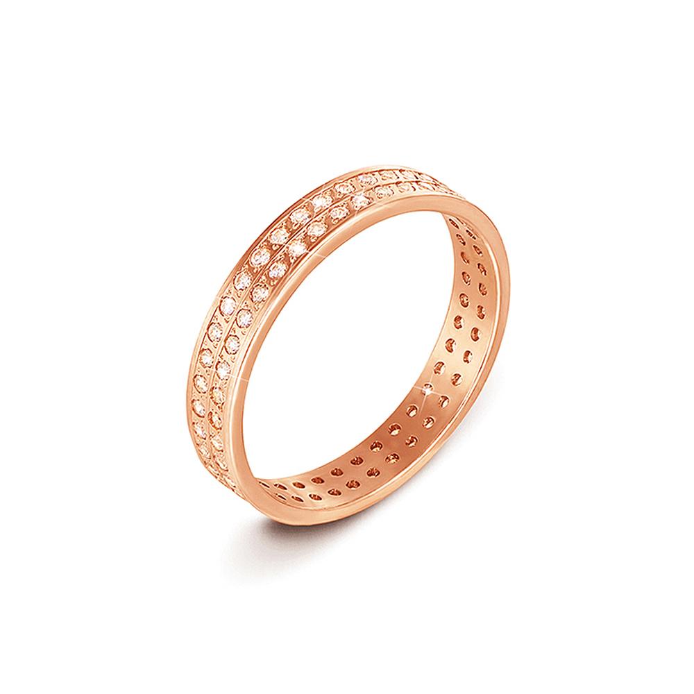 Обручальное кольцо с фианитами. Артикул 1083
