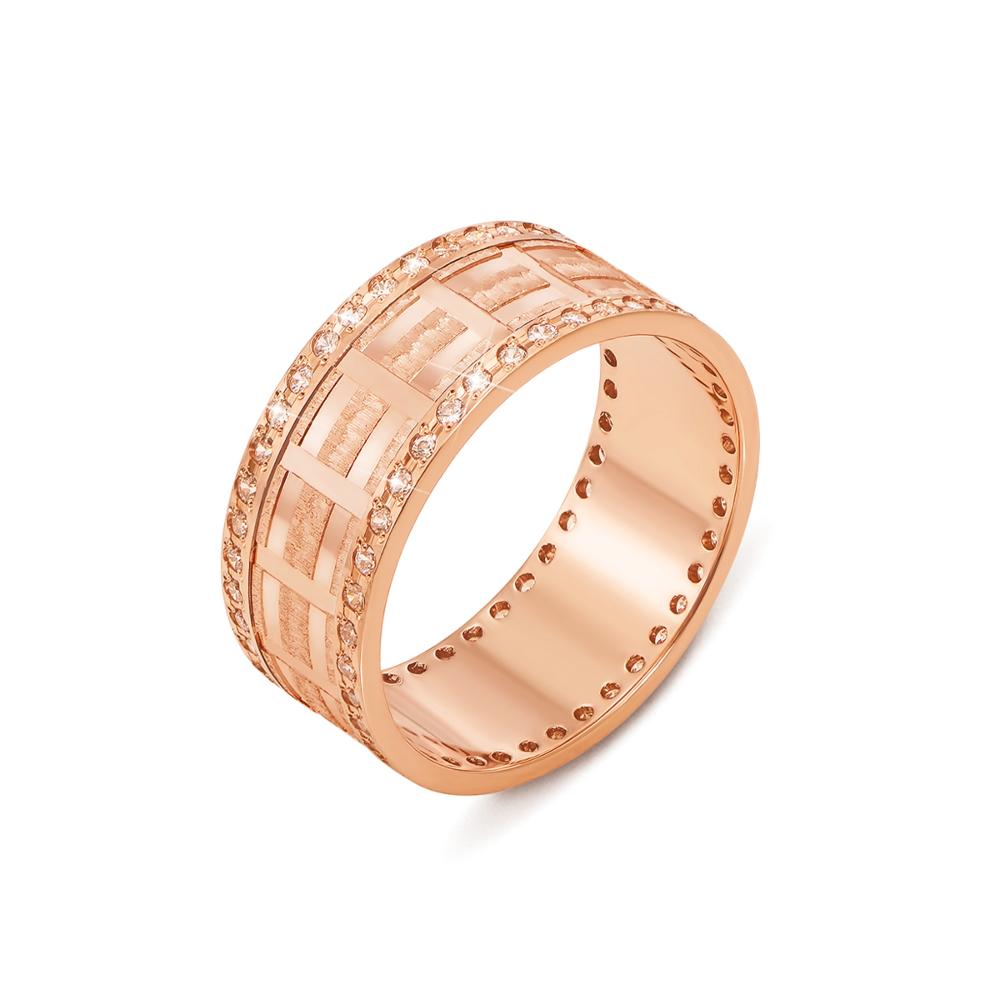Обручальное кольцо с фианитами. Артикул 1087