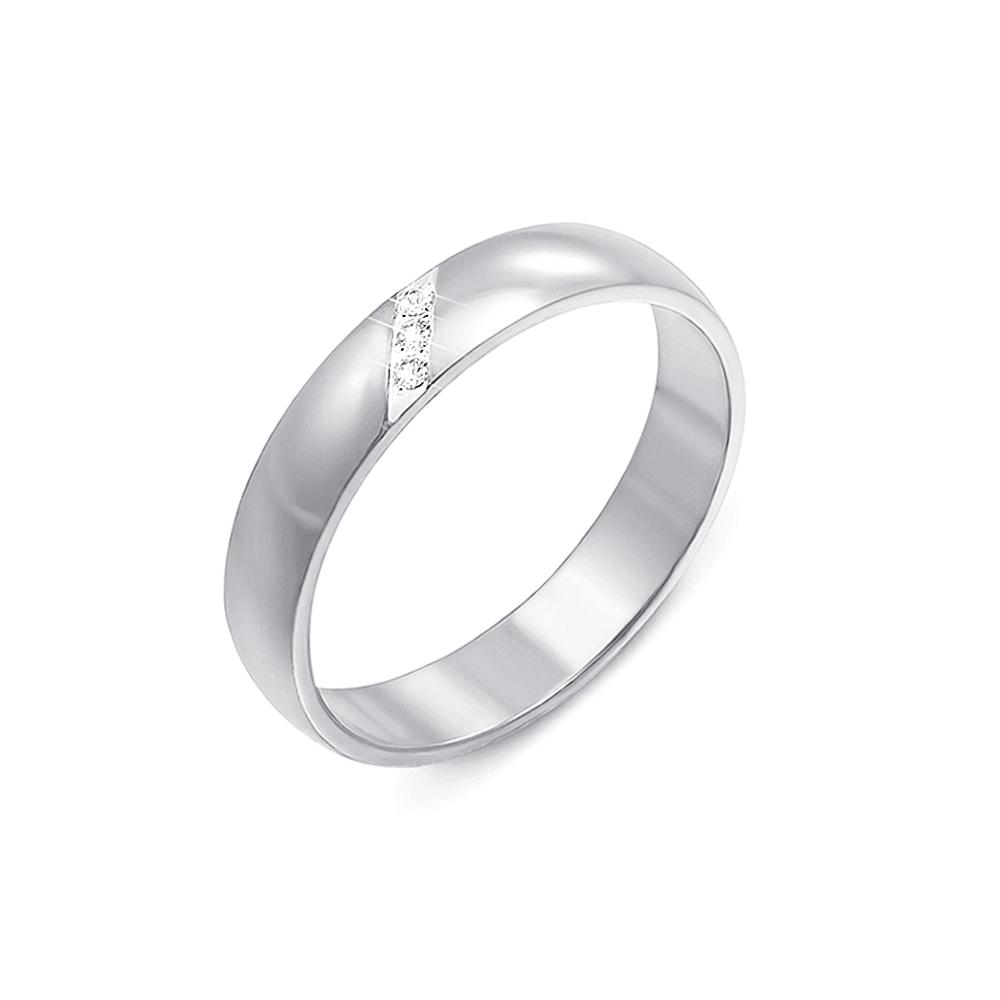 Обручальное кольцо с фианитами. Артикул 1089б