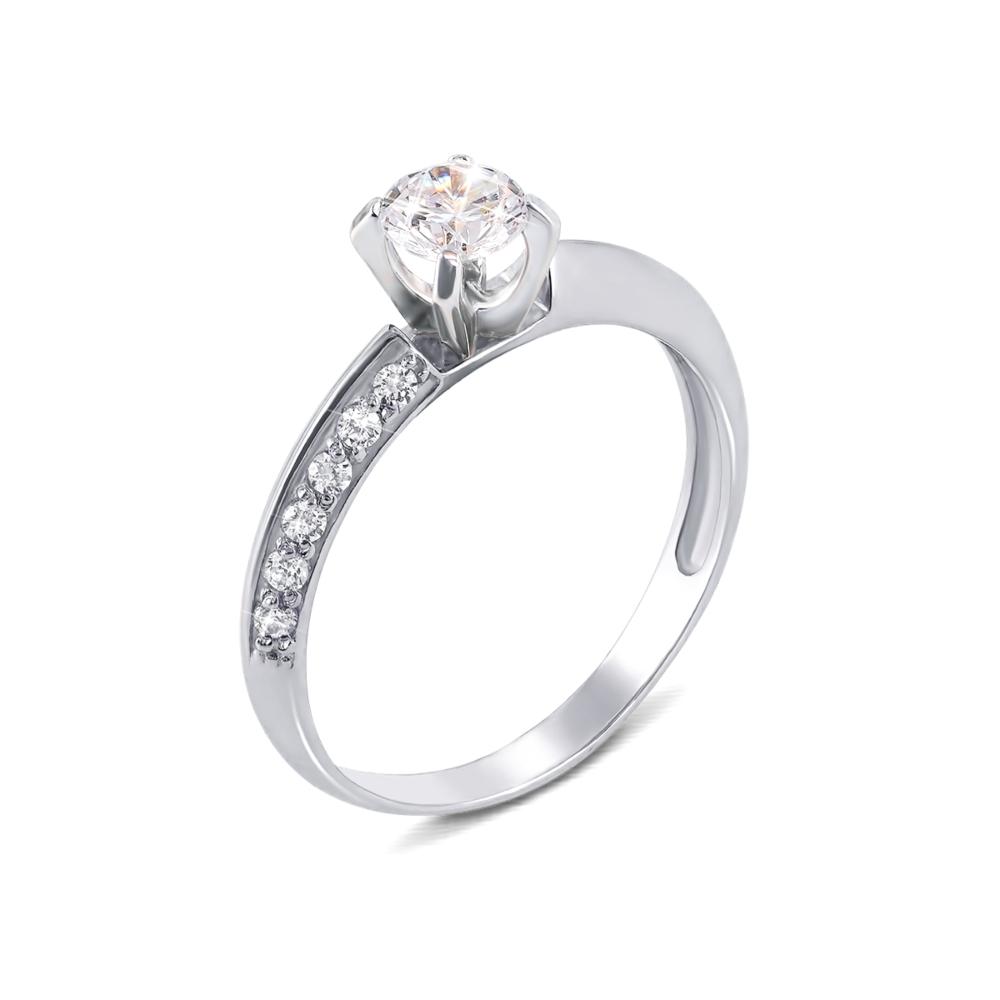 Золотое кольцо с фианитами. Артикул 11885/б