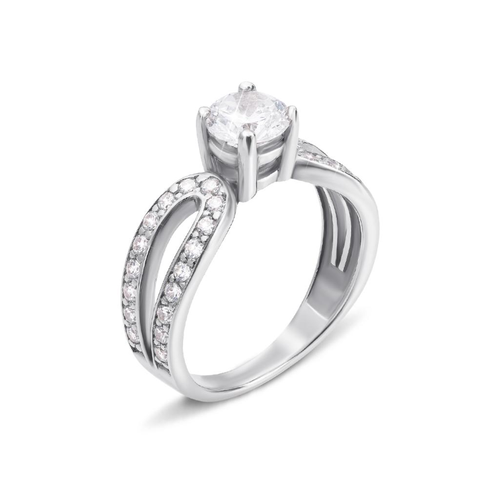Золотое кольцо с фианитами. Артикул 12011/б с