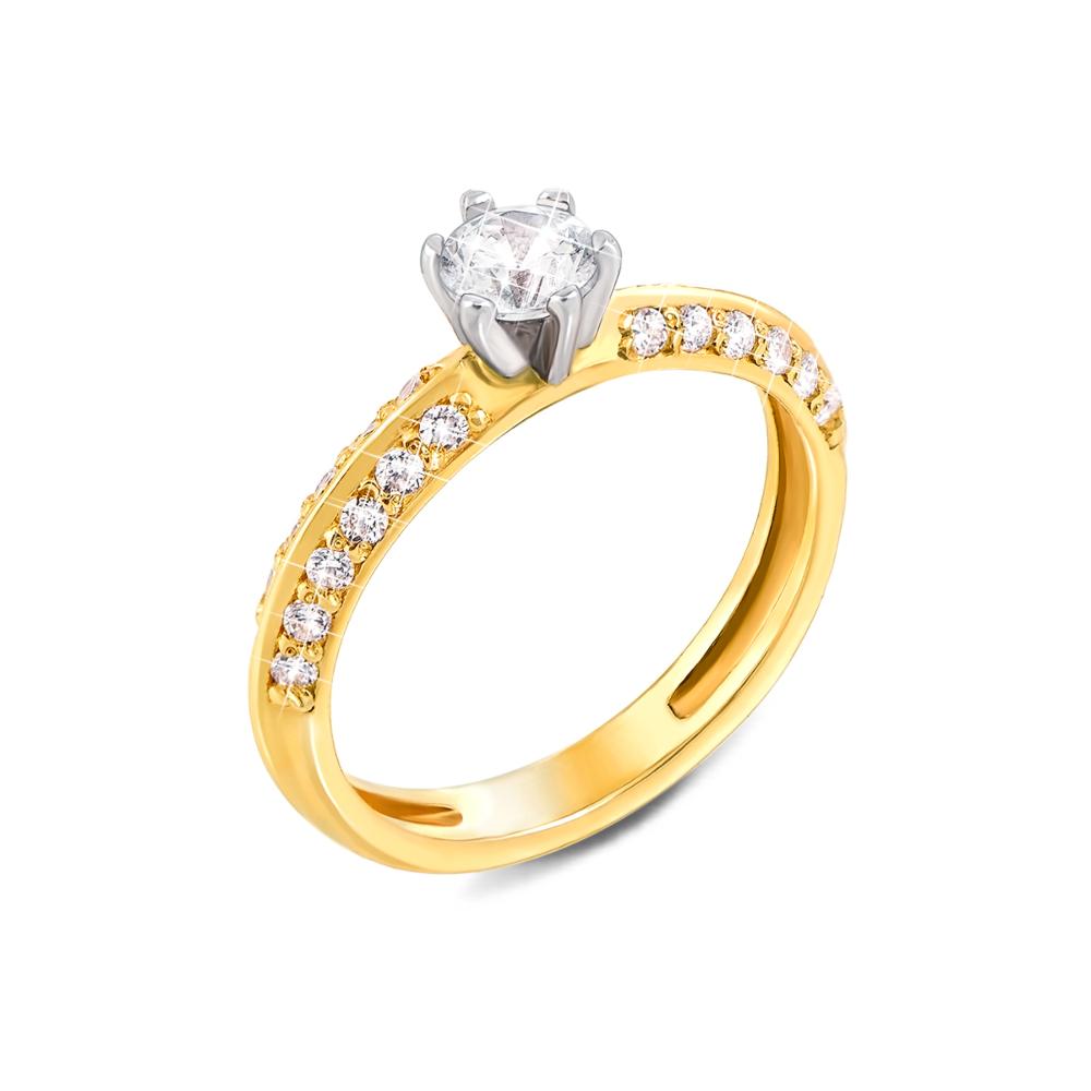 Золотое кольцо с фианитами. Артикул 12013/03/1/80 (12013/eu)
