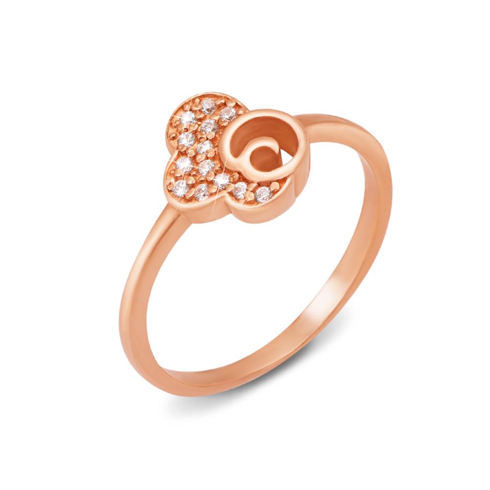 Золотое кольцо с фианитами. Артикул 12029 сп