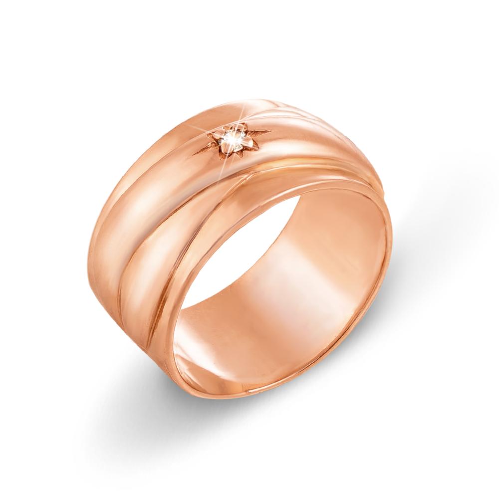 Золотое кольцо с фианитом. Артикул 12031