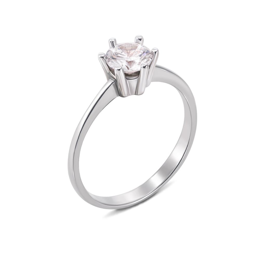 Золотое кольцо с фианитом. Артикул 12040/б с