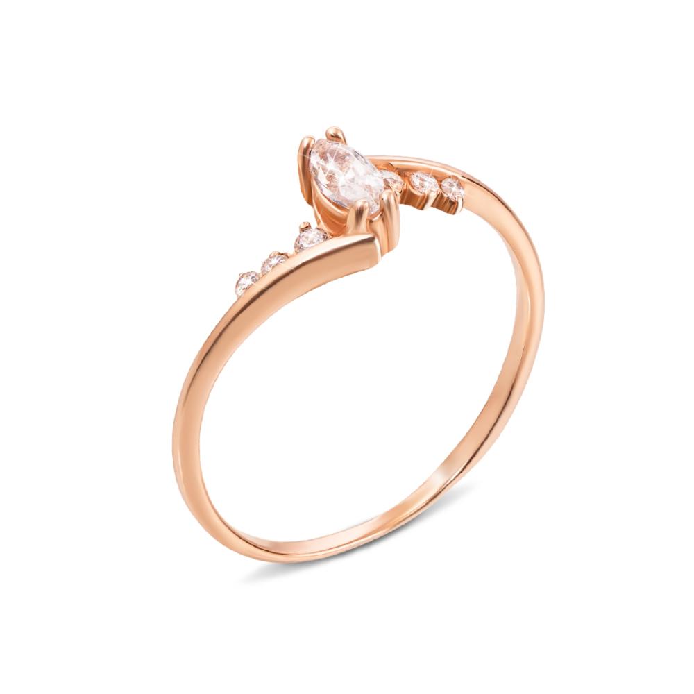 Золотое кольцо с фианитами. Артикул 12086 с