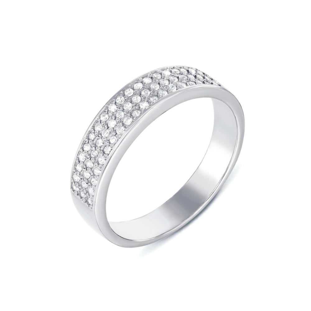 Золотое кольцо с фианитами. Артикул 12106/б с