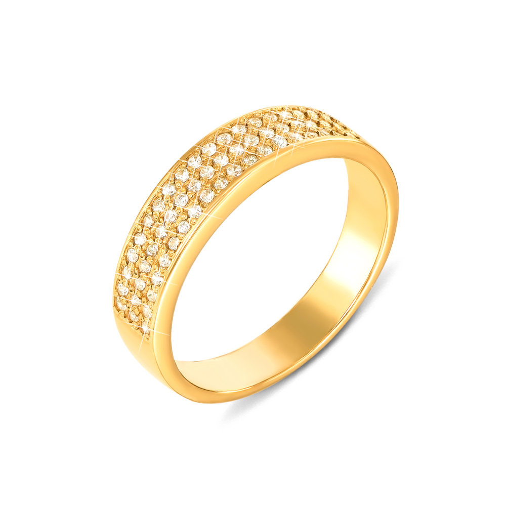 Золота каблучка з фіанітами. Артикул 12106/eu