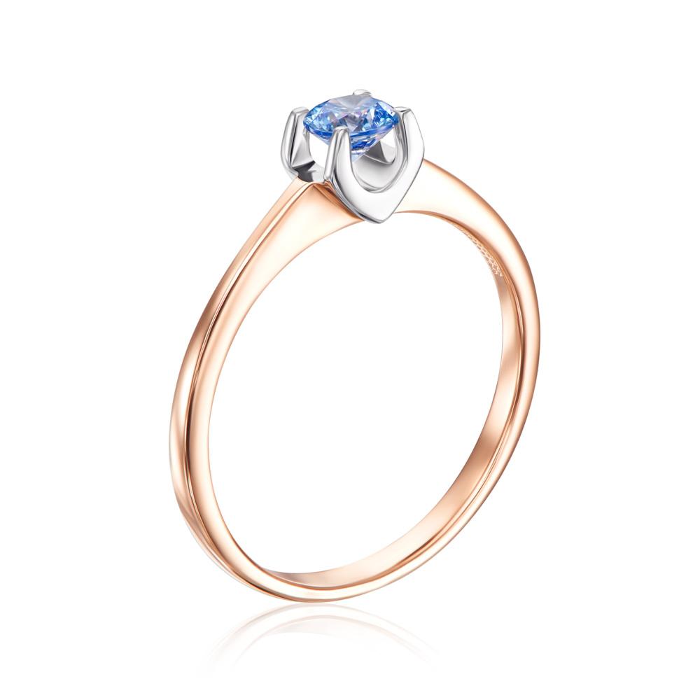 Золотое кольцо с фианитом Swarovski. Артикул 12113/01/1/1357