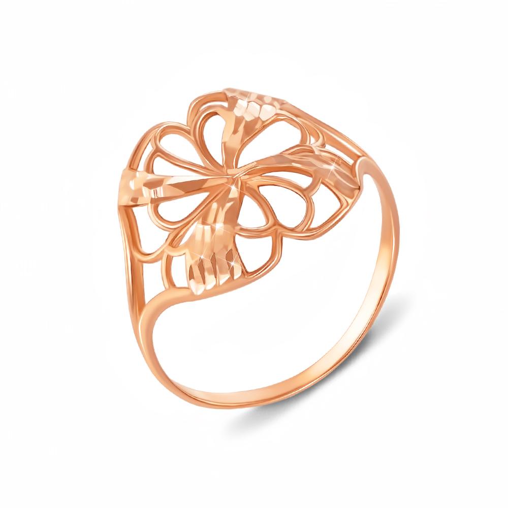 Золотое кольцо с алмазной гранью. Артикул 12130 сп