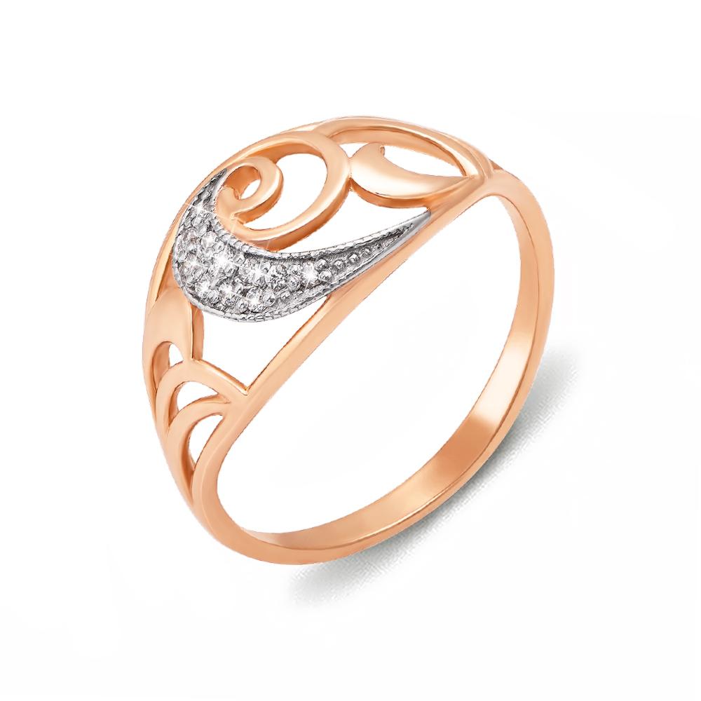 Золотое кольцо с фианитами. Артикул 12131 с