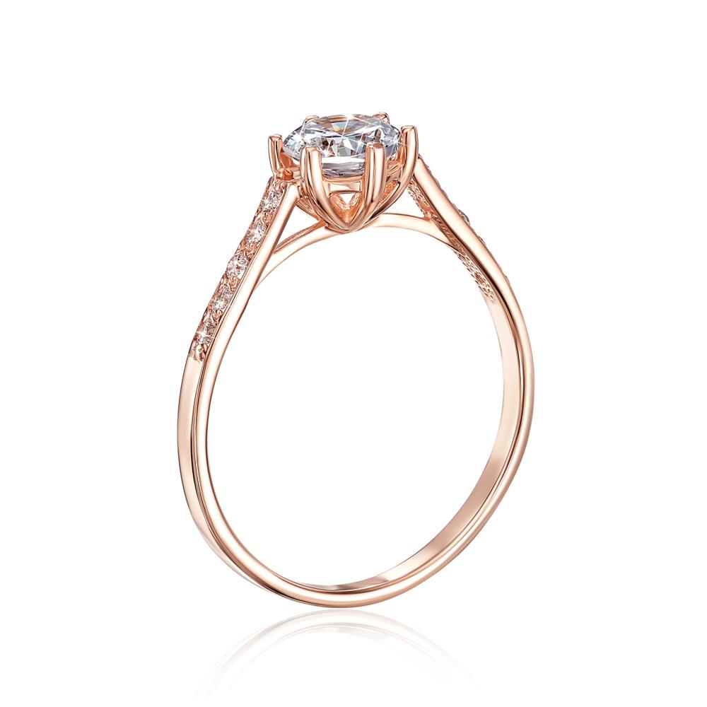 Золотое кольцо с фианитами. Артикул 12149/01/0/16 (12149)