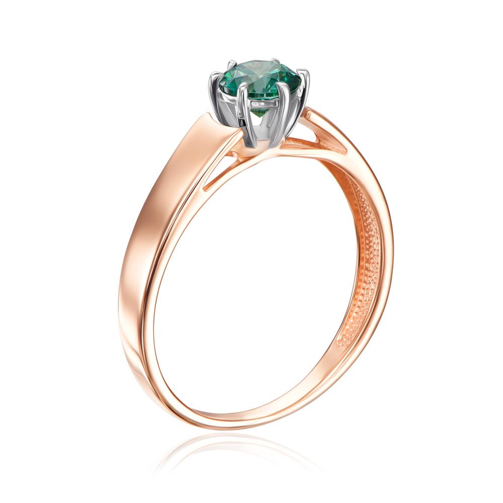 Золотое кольцо с фианитом Swarovski. Артикул 12156/01/1/1373
