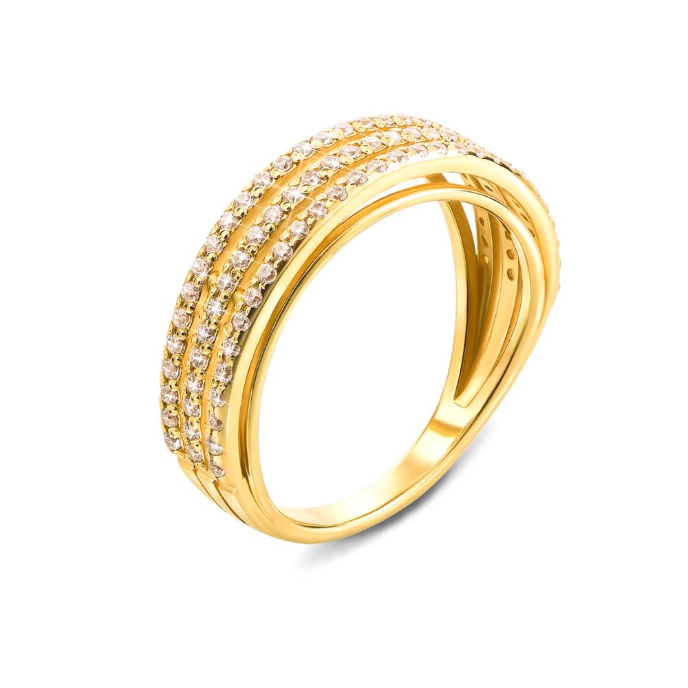 Золота каблучка з фіанітами. Артикул 12162/03/0/1 (12162/eu)