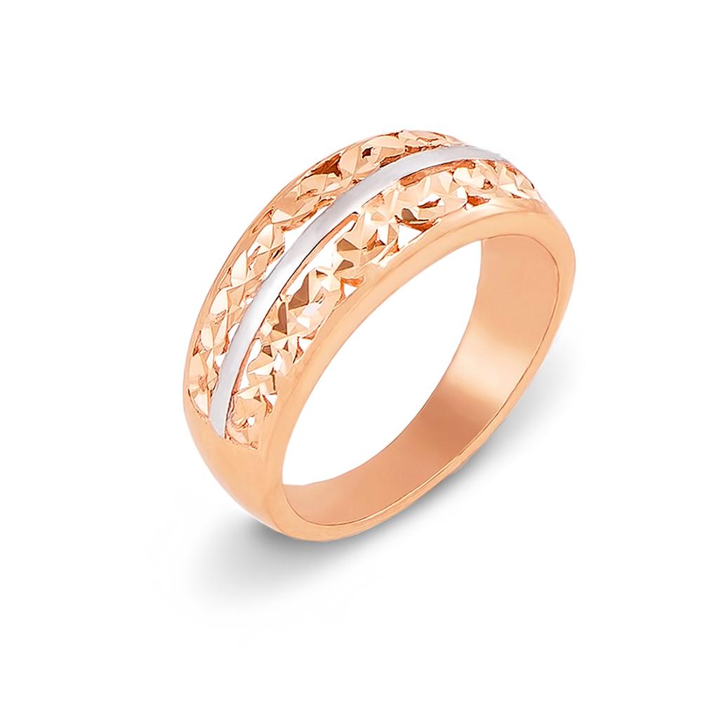Золотое кольцо с алмазной гранью. Артикул 12204