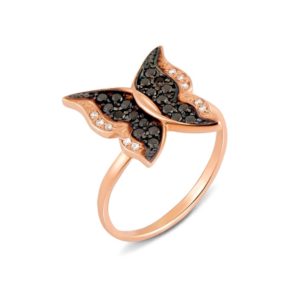 Золотое кольцо с фианитами. Артикул 12207/ч с