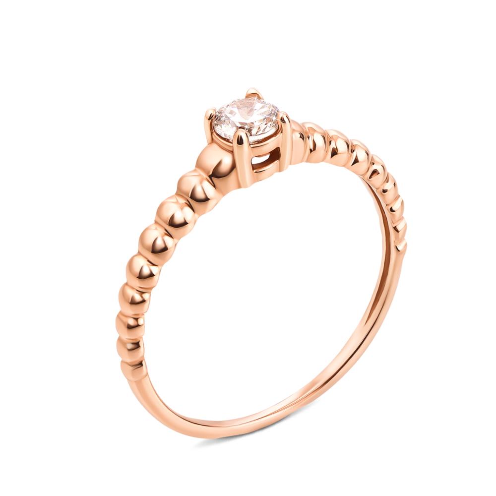 Золотое кольцо с фианитом. Артикул 12209