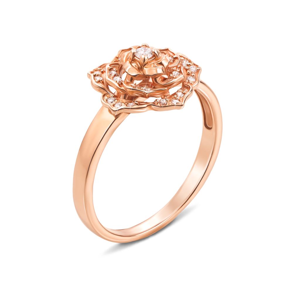 Золотое кольцо с фианитами (12217 сп)