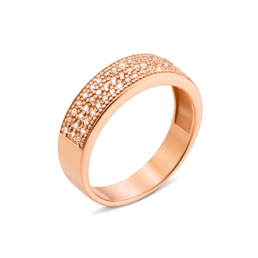 Золотое кольцо с фианитами. Артикул 12223 с