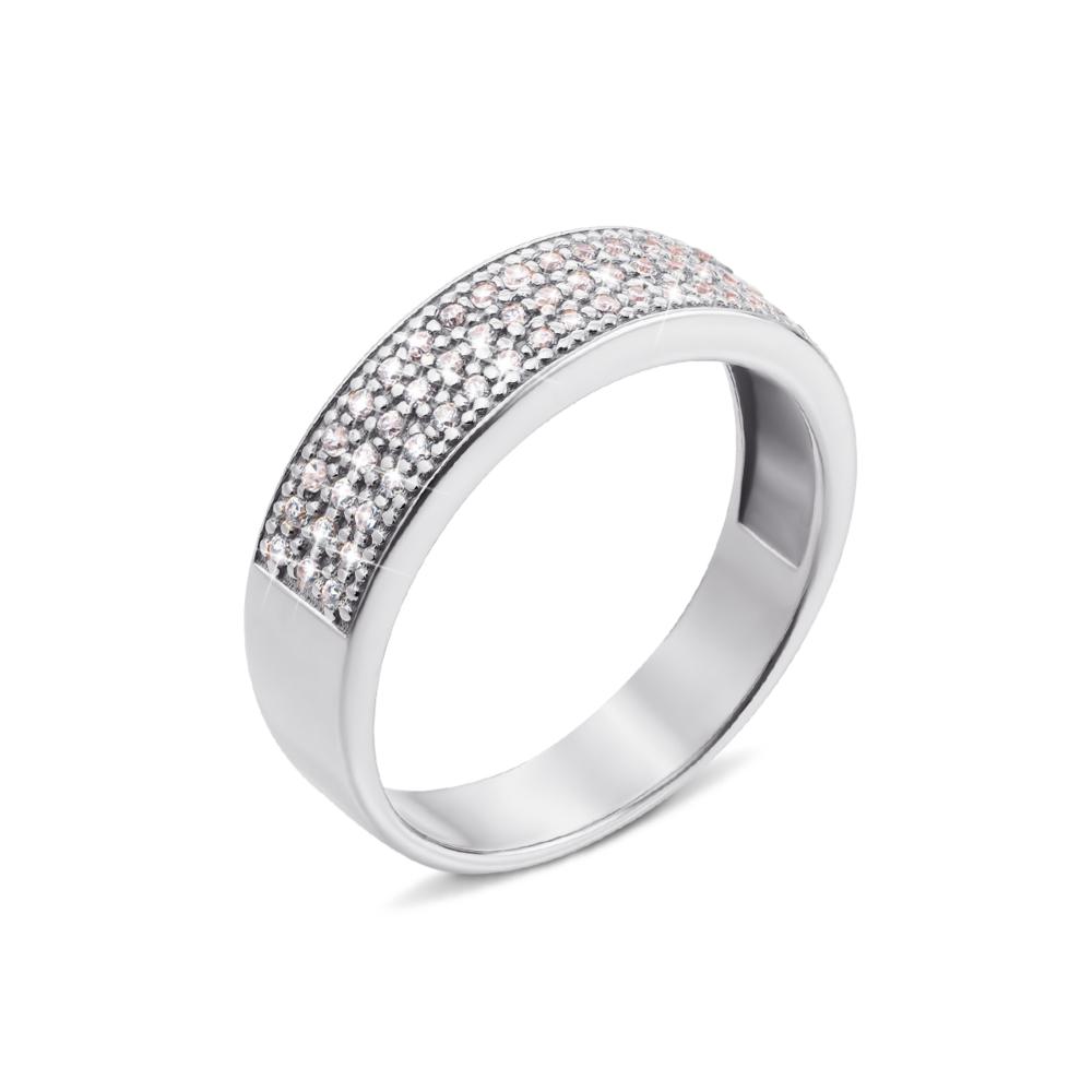 Золотое кольцо с фианитами. Артикул 12223/б с