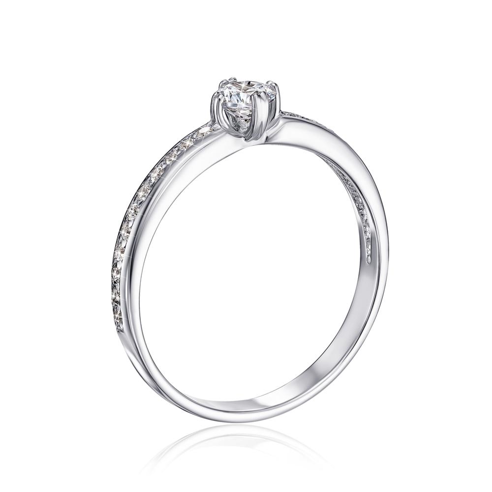Золотое кольцо с фианитами. Артикул 12234/б сп